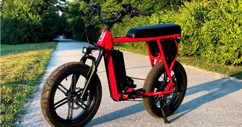 CityScrambler Electric Adventure Bike - On Pennsy Trail in Indianapolis, Indiana
