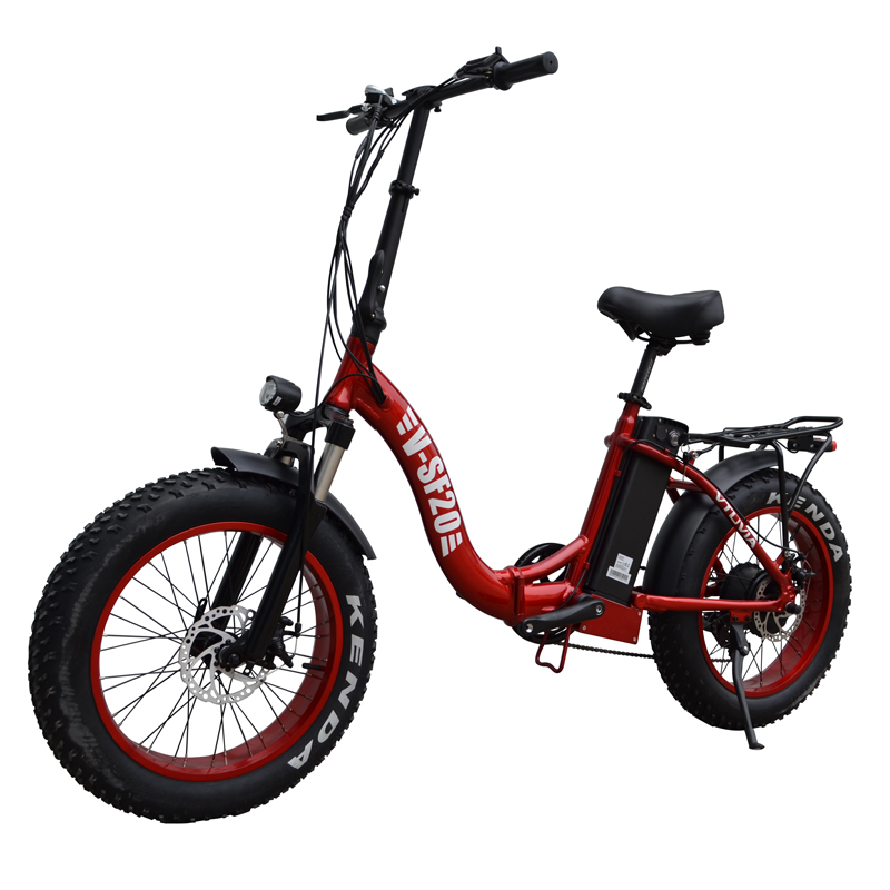 Vtuvia SF-20 Electric Folding - Bike - Red